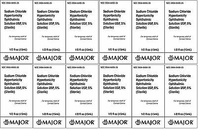 Sodium Chloride 5% Ophthalmic Solution Generic for Muro-128 15 ml 12 PACK