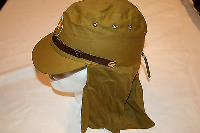Wwii Japanese Army Soldier Field Wool Cap Hat With  Neck Flap