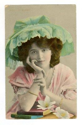 Vintage Stage Actress Lily Burns Photo Postcard Free Shipping