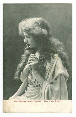 Vintage Photo Postcard Of Stage Actress Margaret Monte - Free Shipping