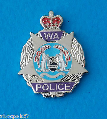 Wa Police Lapel Badge Enamel And Nickel Silver 25Mm High Social Item Only