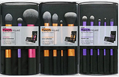 Real Techniques Makeup Brushes Core Collection Starter Travel Essentials 3set