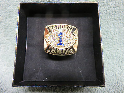 Joe Paterno 1986 National Championship replica ring Penn State Football NCAA
