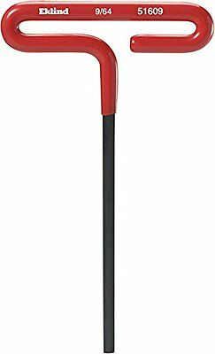 "Eklind 51609 Standard Cushion Grip T-Handle Hex Key 9/64"" x 6"""