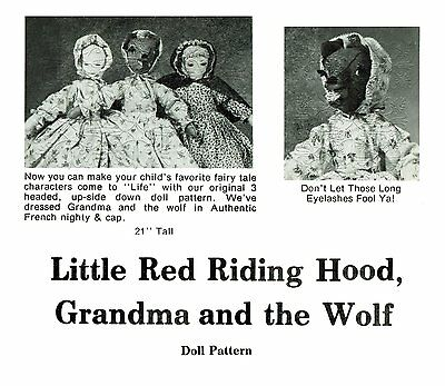 Little Red Riding Hood Grandma Wolf ~Topsy Turvy Doll Pattern
