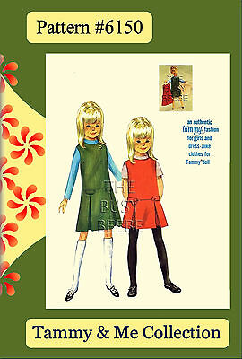 #6150 Tammy Doll Jumper & Blouse Pattern (Tammy & Me Collection 1960's)