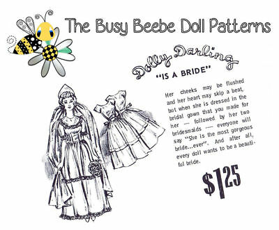 """Dolly Darling """"Is A Bride"""" Pattern For Vintage Barbie"""