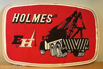 "Ernest Holmes Wrecker Back Patch Holmes Tow Truck Flatbed Wrecker 9.25"" x 6.5"""