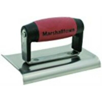 QLT By MARSHALLTOWN CE542B 6-Inch by 4-Inch Blue Steel Edger with Wood Handle
