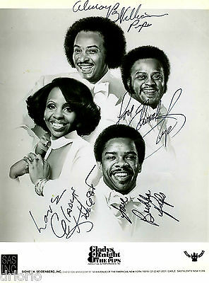 REPRINT - GLADYS KNIGHT AND THE PIPS 1 autographed signed photo copy reprint