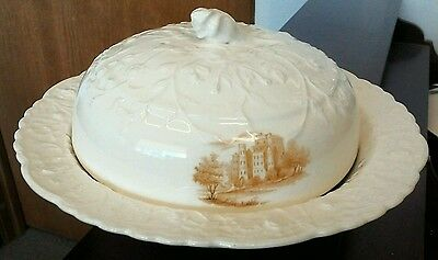 "Pope Gosser Rose Point Round 8-1/2"" Covered Vegetable Bowl Dish with Steam Hole"