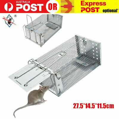 Rat Trap Cage Small Live Animal Pest Rodent Mouse Control Bait Catch PKEN30499