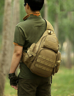 Outdoor Tactical Shoulder Backpack Military & sling Daypack Molle sling bag pack