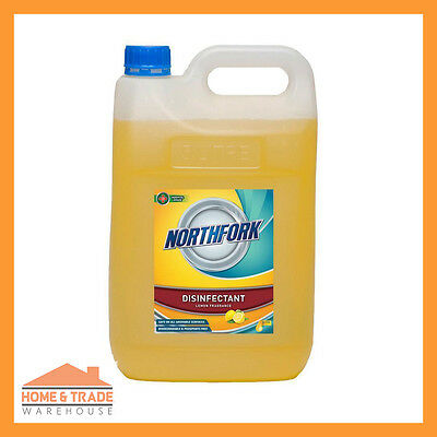 Disinfectant LEMON 2 x 5Litre Disinfects Cleaner Commercial Strength Deodorises