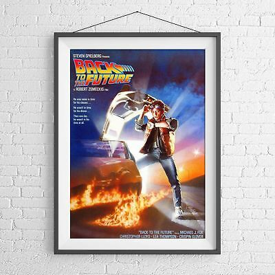 BACK TO THE FUTURE CULT CLASSIC MOVIE POSTER PICTURE PRINT Sizes A5 to A0 *NEW**