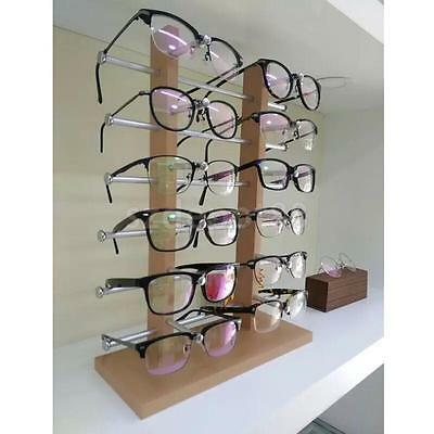 Wood Glasses Sunglass Eyeglass Rack Display Stand Organizer Silver 3/4/5/6-Layer