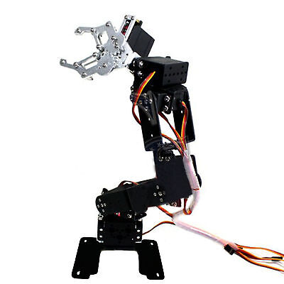 Fully Assembled 6-Axis Mechanical Robotic Arm Clamp Claw for Arduino Raspberry