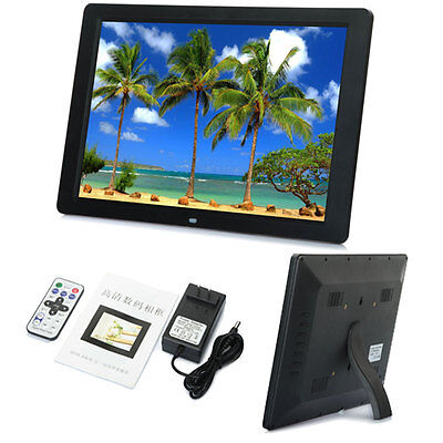 """15"""" Wide Screen LED HD High Resolution Digital Picture Photo Frame Black"""