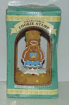 Cookie Stamp mold Gingerbread Angel craft holiday Christmas