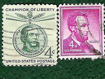 Postage Stamps  United States of America 2 4c stamps