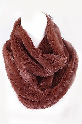 Super Soft Winter Faux Fake Animal Fur Furry Fuzzy Winter Scarf