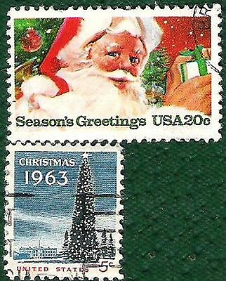 Postage Stamps  United States of America Christmas stamps