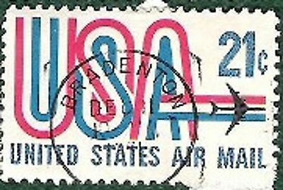 Postage Stamps United States of America-21c airmail MORE DETAILS IN DESCRIPTION