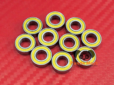10pcs MR126-2RS (6x12x4 mm) Yellow Rubber Sealed Ball Bearing Bearings 6*12*4