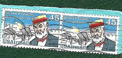 Postage Stamps   United States of America - Samuel P Langley - 2 joined