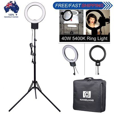 [AU] Studio 40W 5400K Fluorescent Ring Lamp Light + 185cm Reverse Stand + Bag