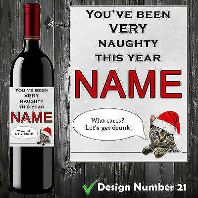 Personalised Funny Wine Bottle Label Birthday Christmas Gift Adult Humour