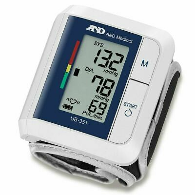 A&D Medical Advanced Wrist Blood Pressure IHB Monitor Compact Portable UB-351