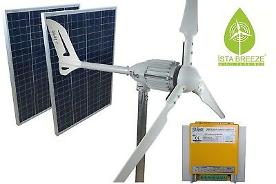 SET 1200W 24V WINDGENERATOR + SOLARMODUL+LADEREGLER iSTA-BREEZE® WINDKRAFTANLAGE
