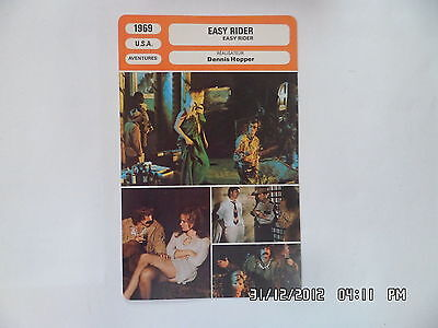 CARTE FICHE CINEMA 1969 EASY RIDER Peter Fonda Dennis Hopper Antonio Mendoza