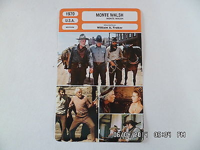 CARTE FICHE CINEMA 1970 MONTE WALSH Lee Marvin Jeanne Moreau Jack Palance M.Ryan
