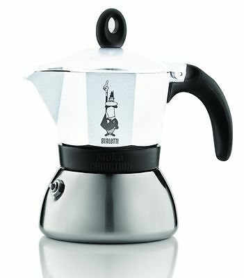 Bialetti Induction 0004933 Moka Coffee Maker 6-Cup Aluminium/Stainless Steel