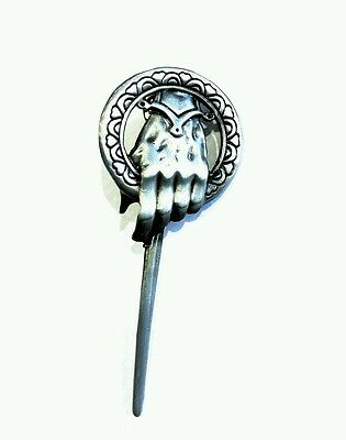 Game of Thrones hand of the QUEEN antique silver metal pin badge brooch 72mm
