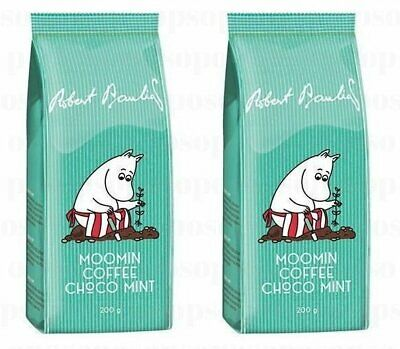 Robert Paulig Moomin Coffee Choco Mint 200g Ground x 2 packs
