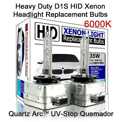 Heavy Duty D1S D1R OEM HID Xenon Headlight Replacement Bulbs 6000K (Pack of 2)