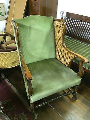 Chair Antique French Provincial style with wicker sides, lovely unique item