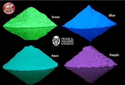 Top Quality Glow In The Dark Powder Pigment In Various Colours Paint Nail Art Uk