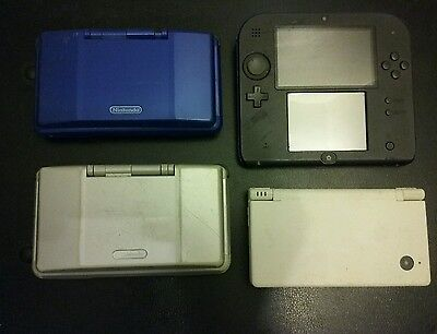 Nintendo DS Lot of 4: 2x DS, 2DS, DSI For Parts or Repair!