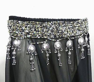 Vintage Fusion Festivl Antique Bead Belt Belly Dance Kuchi Tribal Ethnic Jewelry