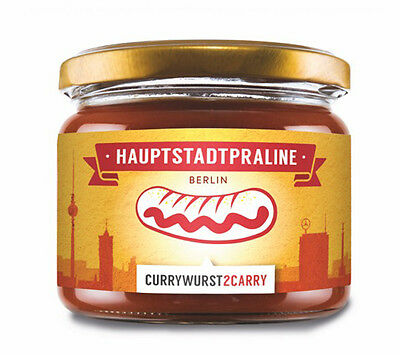 """Authentic """"Berlin Currywurst"""" - Berliner Curry sausage in the glass +Sauce"""