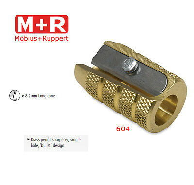Mobius and Ruppert (M+R) 0604 BULLET SHAPED BRASS Pencil sharpener