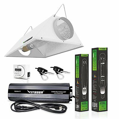 VIVOSUN Hydroponic 1000 Watt HPS MH Grow Light Bulb Digital Dimmable Ballast Air