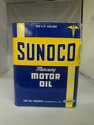 Vintage Sunoco Two Gallon Service Station Oil Can    252-X