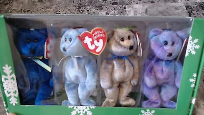 TY Beanie baby Bears Set of 4 Clubby Edition I - IV Happy Holidays Collection