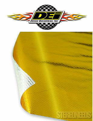 "DEI 010392 REFLECT A GOLD THERMAL 12"" x 24"" SHEET TAPE ENGINE HEAT BARRIER WRAP"