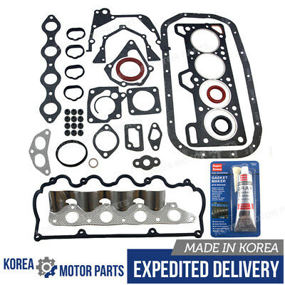 OEM ENGINE FULL GASKET SET W/SILICONE for 93-99 HYUNDAI ACCENT SCOUPE 1.5L